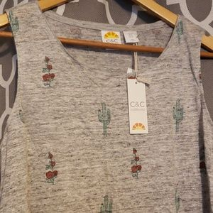 C&C California Tops - New C & C Tank Top Cactus Summer Desert Tank Top